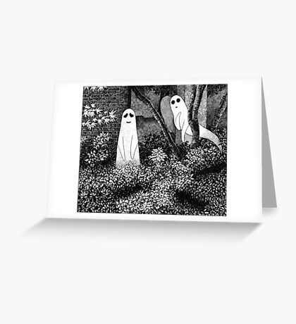 Ghosts wanting friends Greeting Card