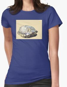 Box Turtle Womens Fitted T-Shirt