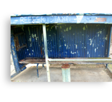 Arden street,North Melbourne, Football Ground-REEFER  STAND Metal Print