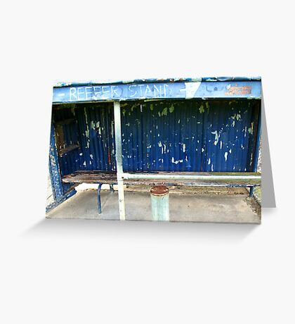 Arden street,North Melbourne, Football Ground-REEFER  STAND Greeting Card