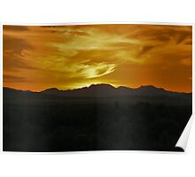 Sunset Over The Desert Poster