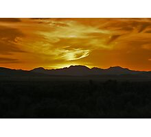 Sunset Over The Desert Photographic Print