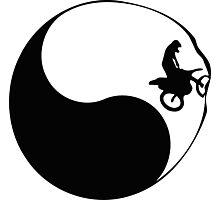 Yin and yang Motorcross Photographic Print