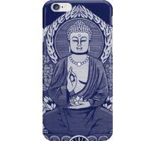 Gautama Buddha White Halftone iPhone Case/Skin