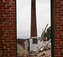 Smoke Stack in Rubble by ddancernc