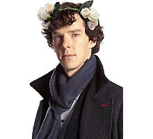 Sherlock Floral Crown Photographic Print