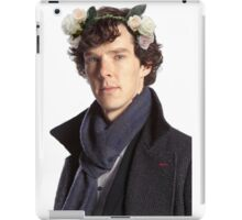 Sherlock Floral Crown iPad Case/Skin