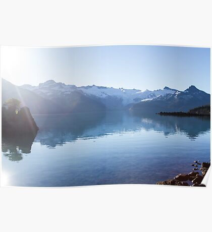 Sun Over Snowy Mountains Poster