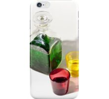 Still life in green On white Background iPhone Case/Skin