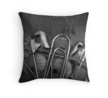 Safety Pins Throw Pillow