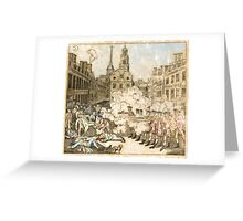 Boston Massacre Greeting Card