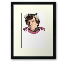 Sherlock Flowers Framed Print