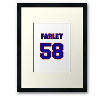 National football player Dale Farley jersey 58 Framed Print