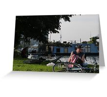 Chilling out in Treptower Park Greeting Card