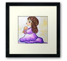 The Prayers of a Child - Dear God ... Framed Print