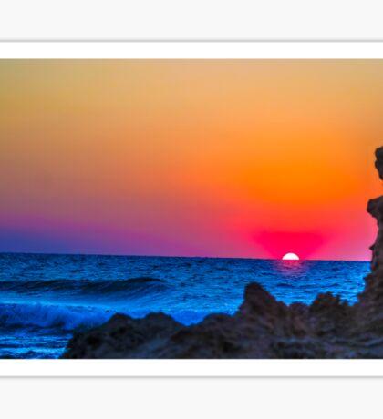 Mediterranean Sunset photographed in Israel  Sticker