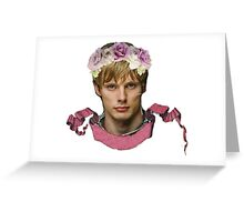 Arthur Pendragon Floral  Greeting Card
