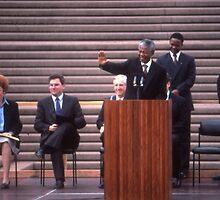 Nelson Mandela, Sydney Opera House, Australia 1990 by muz2142