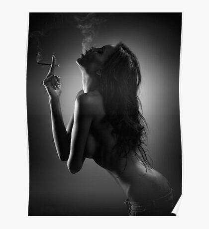 Smoking girl Poster