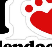 I Heart Goldendoodles Sticker