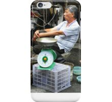 Fishmonger at George Town, Penang Market, Malaysia iPhone Case/Skin