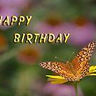 Butterfly Happy Birthday Card by © Joe  Beasley IPA