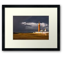 Storm at the Butt of Lewis Framed Print