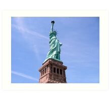 Statue of Liberty - Side View        Art Print