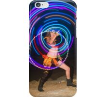 Psychedelic Hula Hoop at night  iPhone Case/Skin