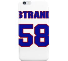 National football player Eli Strand jersey 58 iPhone Case/Skin