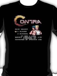 Contra (NES) Title Screen T-Shirt