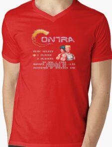 Contra (NES) Title Screen Mens V-Neck T-Shirt
