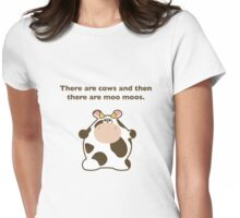 cows and moos Womens Fitted T-Shirt