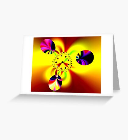 Time in Fractal Universe Greeting Card