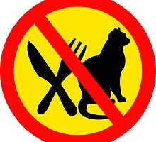 DO NOT EAT CATS ROAD SIGN by SofiaYoushi