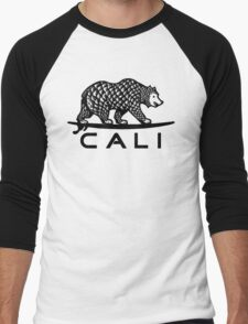 Black Cali Bear Men's Baseball ¾ T-Shirt