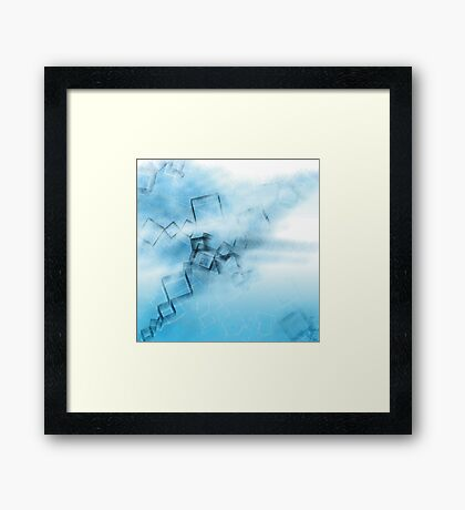BLUE GAME Framed Print