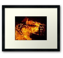 0074 - HDR Panorama - Campfire 1 Framed Print