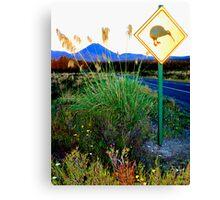 Kiwi Crossing NZ Canvas Print