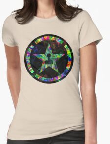 Psychedelic Achievement Hunter Womens Fitted T-Shirt