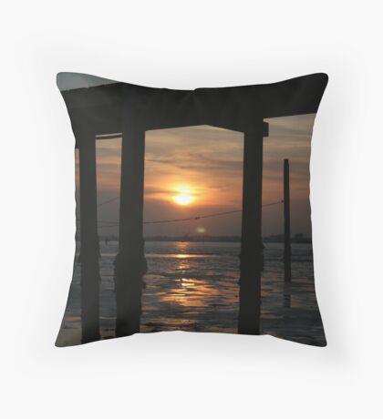 Distant Sands Throw Pillow