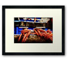Nodi peschereccio Framed Print
