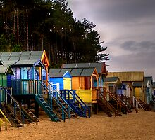 Beach Huts by Hilary Robertshaw