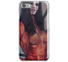Declined creepy girl version iPhone Case/Skin