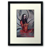 Declined creepy girl version Framed Print