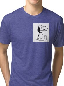 Disheveled Snoopy Tri-blend T-Shirt