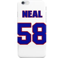 National football player Ed Neal jersey 58 iPhone Case/Skin