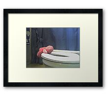 ONE TOO MANY.... Framed Print