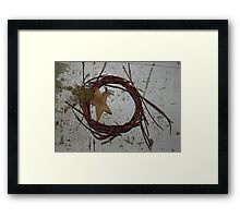 0085 - HDR Panorama - Wreath and Star Framed Print