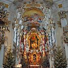 Christmas Day in Wieskirche - Germany by Arie Koene